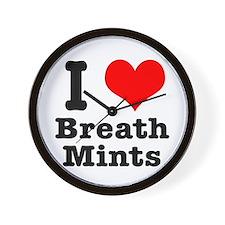 I Heart (Love) Breath Mints Wall Clock