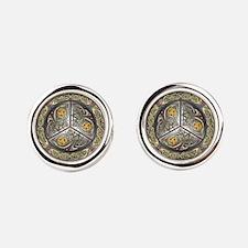 Bejeweled Celtic Shield Cufflinks