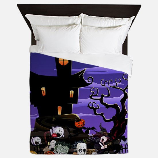 Kids Halloweening Queen Duvet