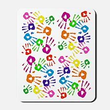 vertical handprints Mousepad