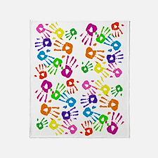vertical handprints Throw Blanket