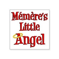 "Memeres Little Angel Square Sticker 3"" x 3"""