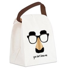 disguise nose glasses Canvas Lunch Bag