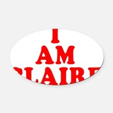I-Am-Claire Oval Car Magnet