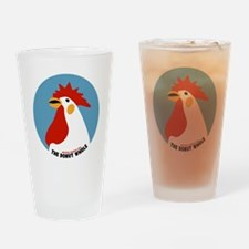 Donut Whole Logo (Transparent) Drinking Glass