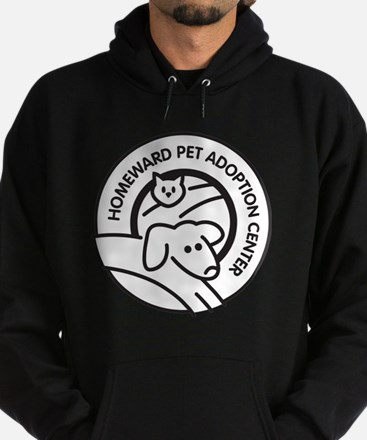 Homeward Pet Round Black/White Logo Hoodie (dark)