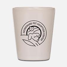 Homeward Pet Round Black/White Logo Shot Glass