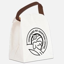 Homeward Pet Round Black/White Lo Canvas Lunch Bag