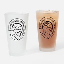 Homeward Pet Round Black/White Logo Drinking Glass