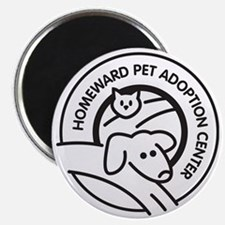 Homeward Pet Round Black/White Logo Magnet