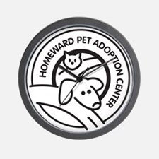 Homeward Pet Round Black/White Logo Wall Clock