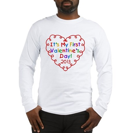 Heart 1st Valentines Day Long Sleeve T-Shirt