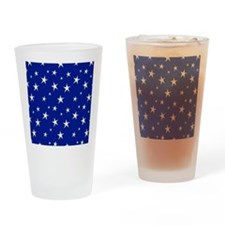 blue with stars Drinking Glass