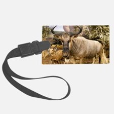 Wildebeest In The Wild Luggage Tag