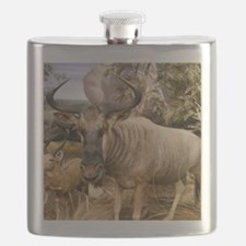 Wildebeest In The Wild Flask