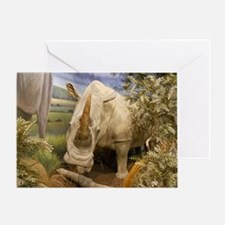 Rhinoceros Greeting Card