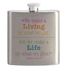 Winston Churchill Quote Flask