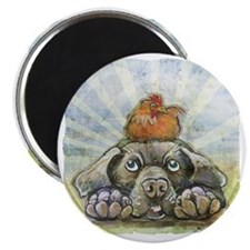 The Chicken and the Dog Magnet
