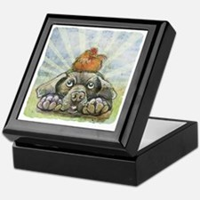 The Chicken and the Dog Keepsake Box