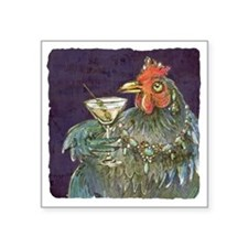 "Martinis anyone? Square Sticker 3"" x 3"""
