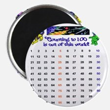 100th Day Astronauts Magnet