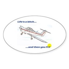 Fly! Tomahawk Oval Decal