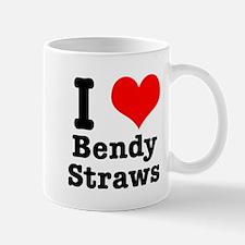 I Heart (Love) Bendy Straws Mug