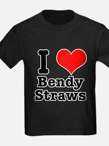 I Heart (Love) Bendy Straws T