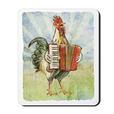 Accordian chick with back Mousepad