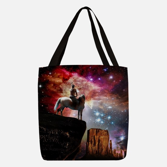 Native American Universe Polyester Tote Bag