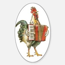 Accordian Playing Chicken Decal