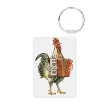 Accordian Playing Chicken Keychains