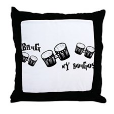 Bang My Bongos Throw Pillow