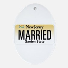 New Jersey Marriage Equality Ornament (Oval)