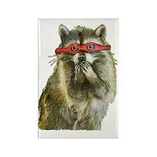 Naughty Raccoon Rectangle Magnet