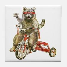 Raccoon Biker Gang Tile Coaster