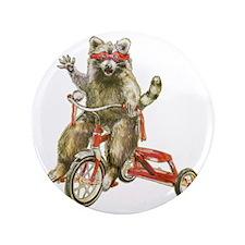 """Raccoon Biker Gang 3.5"""" Button"""