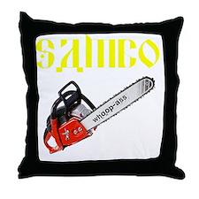 Sambo Chainsaw Throw Pillow