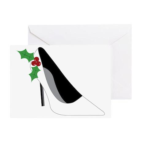Christmas High Heel Greeting Card