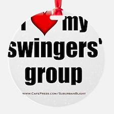 I Love My Swingers Group lightappar Ornament
