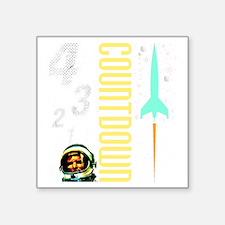 """Countdown scifi vintage Square Sticker 3"""" x 3"""""""