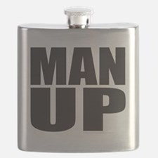 MAN UP T-SHIRTS AND GIFTS Flask