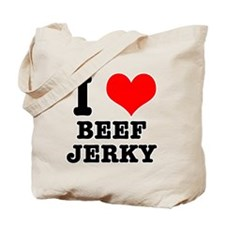 I Heart (Love) Beef Jerky Tote Bag