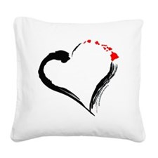 I Love Hawaii Square Canvas Pillow