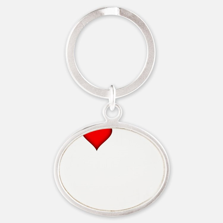 I Love My Swingers Group darkapparel Oval Keychain