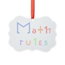 Math Rules Ornament