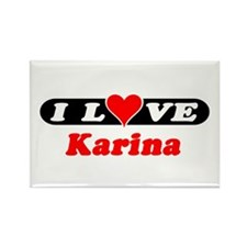 I Love Karina Rectangle Magnet