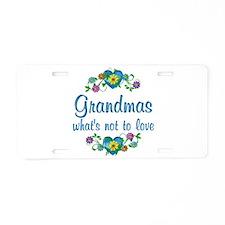 Grandmas to Love Aluminum License Plate