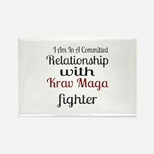 Relationship With Krav Maga Fight Rectangle Magnet