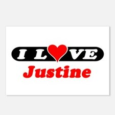 I Love Justine Postcards (Package of 8)